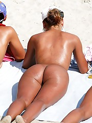 Admiring nude butts of beach girls upskirt picture