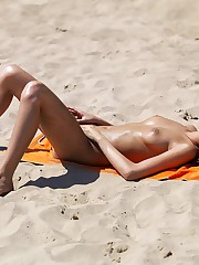 Xxx butt games on the nudist beach upskirt pussy
