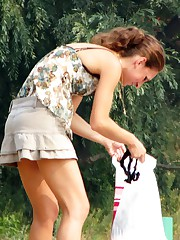 Swimsuit teens looking so amazing upskirt pic